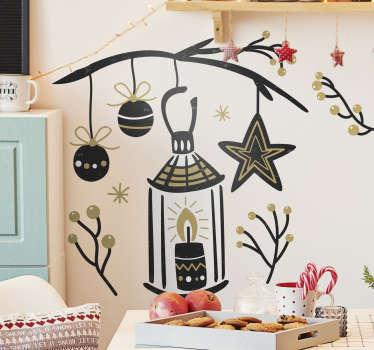 Vinilo decorativo adorno navidad