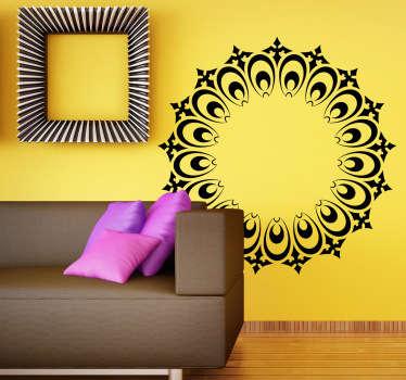 Wandtattoo dekorativer Adventskranz