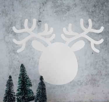 Reindeer Face Silhouette Blackboard Sticker