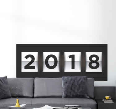 Nieuwjaar 2018 muursticker