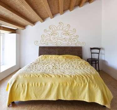 Adesivi testiera letto in camere da letto - TenStickers