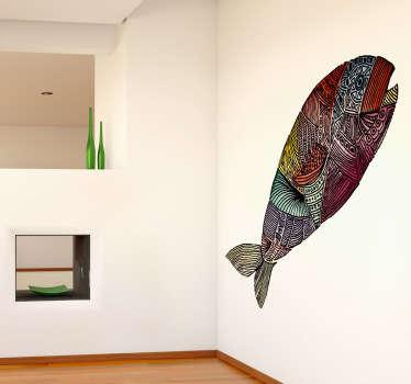 Vinilo decorativo pez texturizado