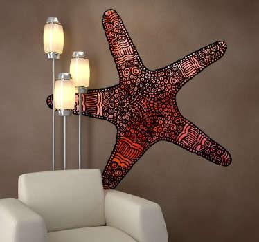 Wall sticker decorativo che raffigura una stella marina.