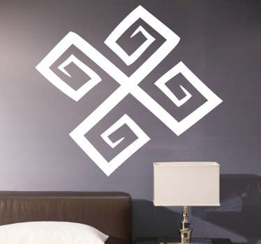 Sticker decorativo croce con spirali