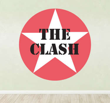 Stencil muro logo stella The Clash
