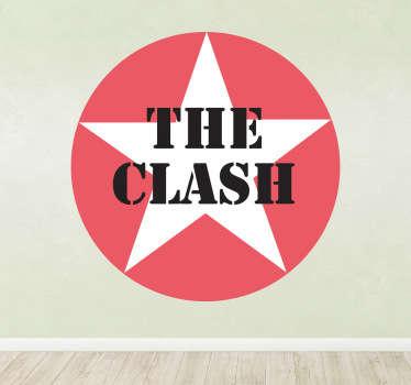Stencil muro logo stella The Clash
