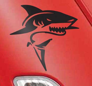 Weißer Hai Aufkleber Skizze