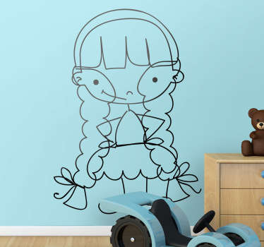 Little Girl Outline Kids Decal
