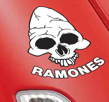 Sticker teschio Ramones