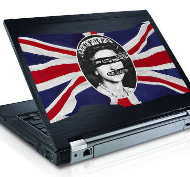 God Save The Queen Laptop Sticker