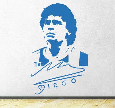 Autocolante decorativo autógrafo Maradona