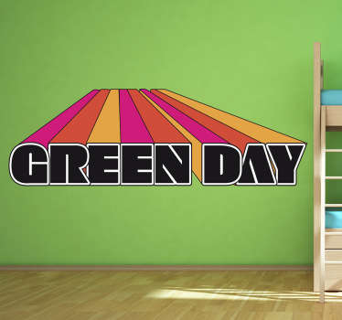 Vinilo decorativo Green Day 3D