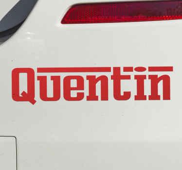 Naklejka w stylu Ferrari z Twoim imieniem