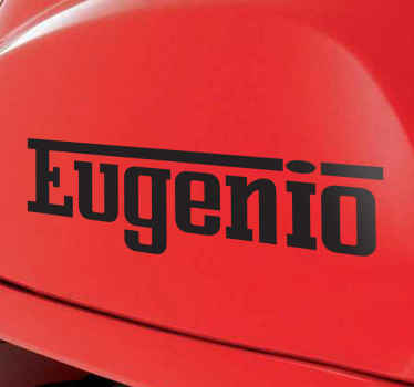 Personalised Ferrari Text Sticker
