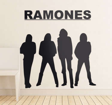 The Ramones Wandtattoo