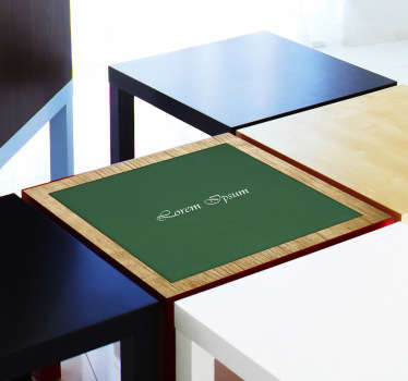 A customisable feature for your game nights. Poker theme decal to place on your game table. Available in various sizes. *