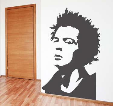 Stencil muro Sid Vicious