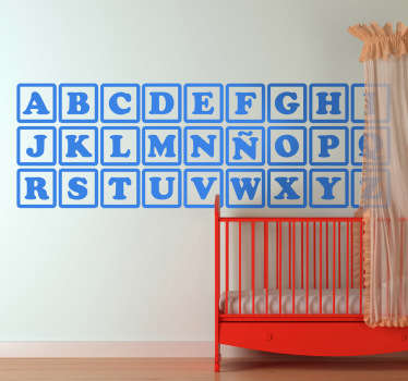Alphabet Spielsteine Aufkleber