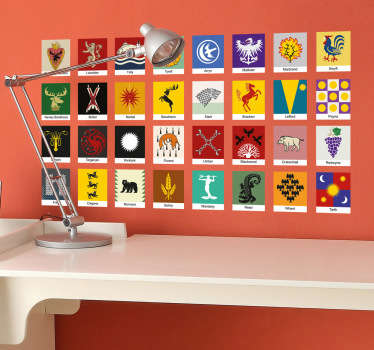 Wall sticker famiglie Il Trono di Spade