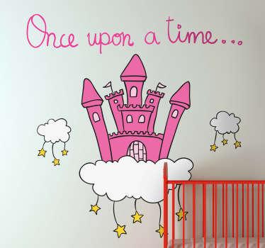 En gang slott veggdekal
