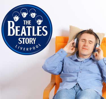 Sticker decorativo de los Beatles, una bonita estampa para los fans del grupo de música que marcó tendencia en los años 50 y 60.