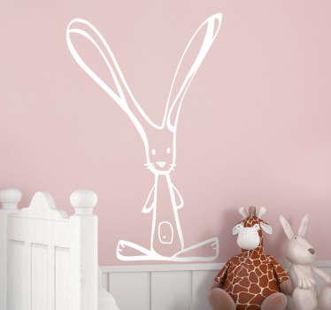Sticker enfant dessin lapin
