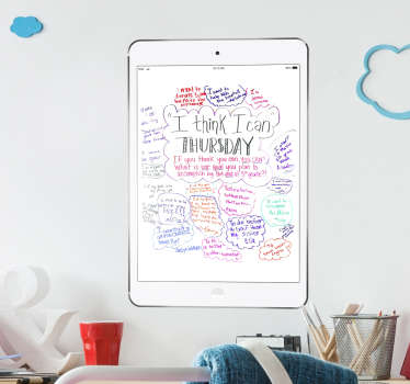 Sticker tableau velleda ipad air blanc