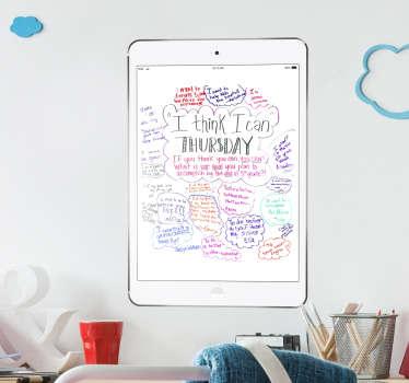 iPad Air Whiteboard Sticker