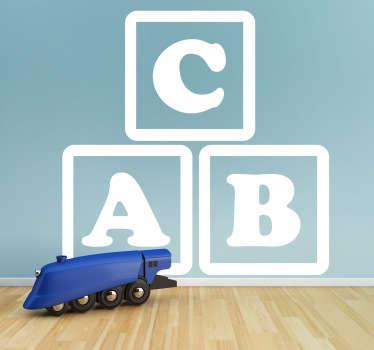 Sticker bambini cubi abc