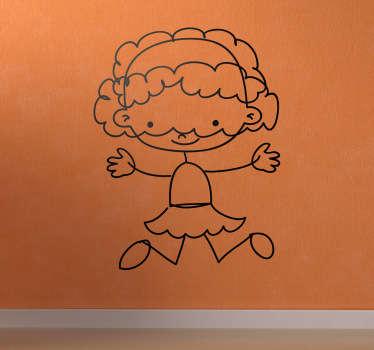 Wandtattoo Kinderzimmer gezeichnetes Mädchen