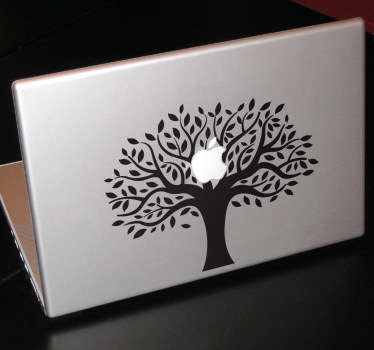 Sticker mac apple arbre