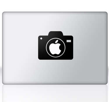 A superb design of a digital camera to decorate the apple logo on your Mac! A exclusive design from our collection of MacBook stickers.
