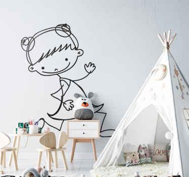 Wandtattoo Kinderzimmer rennendes Mädchen
