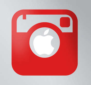 Sticker mac apple appareil photo instagram
