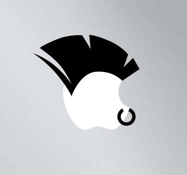 Sticker voor MAC apple punker neusring