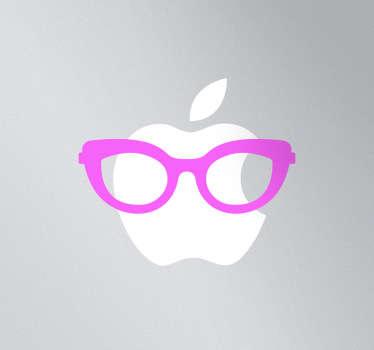 Naklejka dekoracyjna na laptop damskie okulary