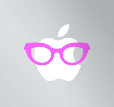 Sticker man apple lunettes femme