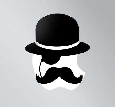 MacBook Icon Aufkleber Gentleman