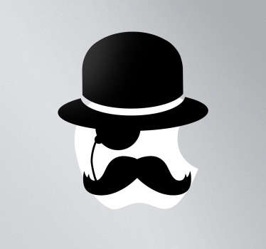 Sticker mac apple gentleman
