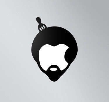 Sticker mac apple coupe afro