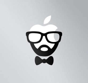 Sticker mac apple visage hispter