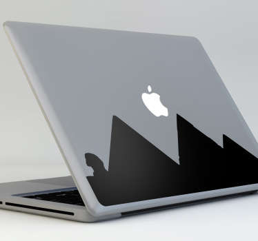 A superb design illustrating three egyptian pyramids and the sphinx. A unique decal from our collection of MacBook stickers.