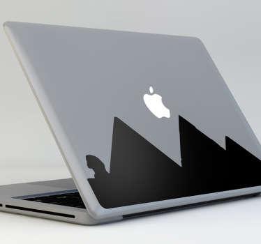 Sticker mac apple pyramides Egypte