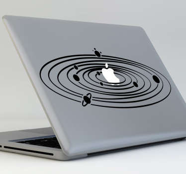 Sticker decorativo Sistema Solar MacBook