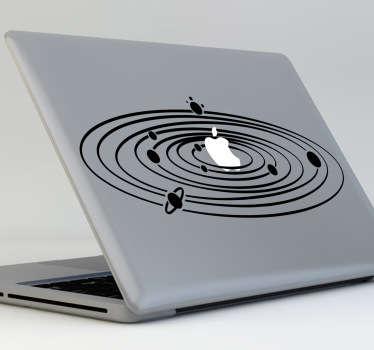 Sticker mac apple système solaire