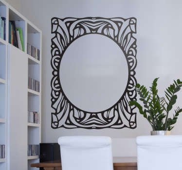 Retro decoratieve frame sticker