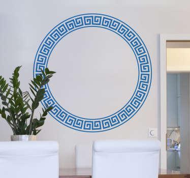 Vinilo decorativo circular helénico