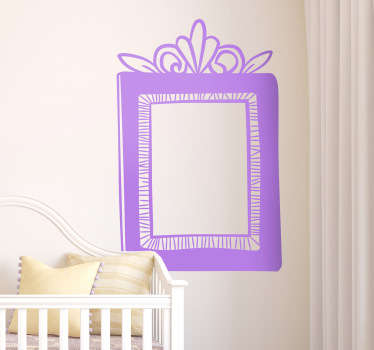Monochrome decorative frame sticker to decorate your home by picking a color from the wide range available.