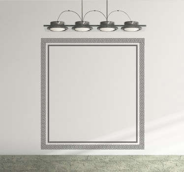 A square frame sticker with a Greek pattern for enthusiasts of the classical world.