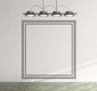 Vinilo decorativo marco cuadrado griego